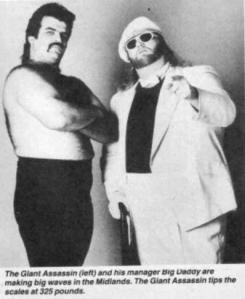 The Giant Assassin and his manager, Big Daddy made a splash in the local wrestling scene in the 80's and 90's.