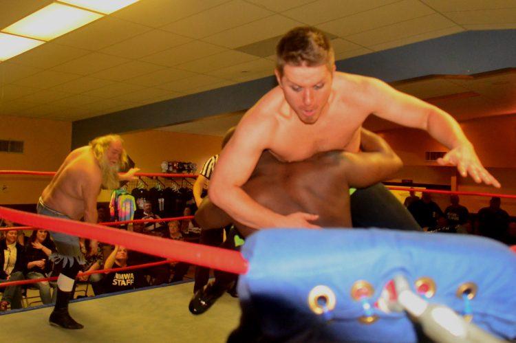 Ace Hawkins gets beaten up